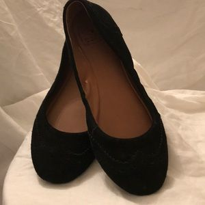 Lucky Brand Emmie Flats Black Suede Size 10